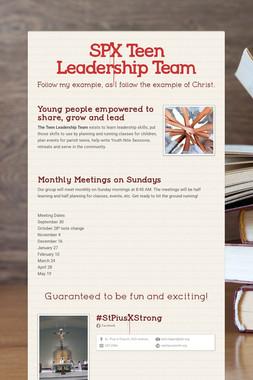 SPX Teen Leadership Team