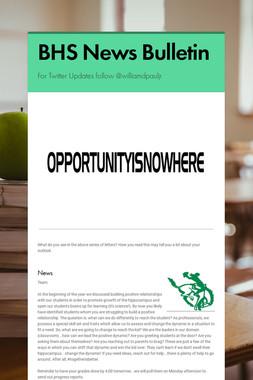 BHS News Bulletin