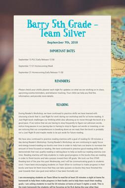 Barry 5th Grade -       Team Silver
