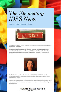 The Elementary IDSS News