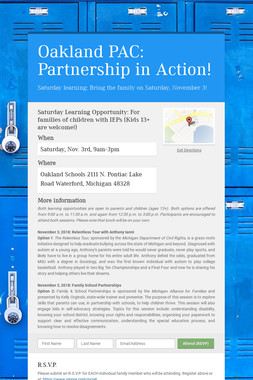 Oakland PAC: Partnership in Action!