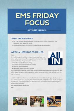 EMS Friday Focus