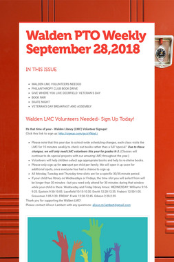 Walden PTO Weekly September 28,2018