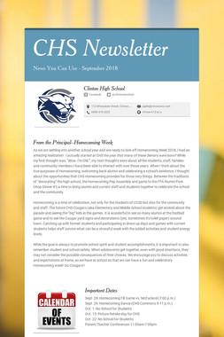 CHS Newsletter