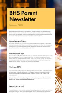 BHS Parent Newsletter