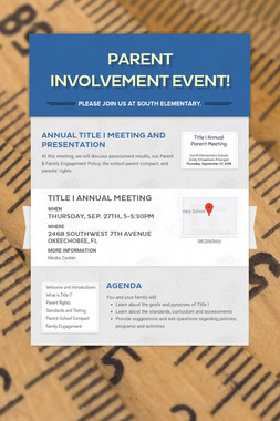 Parent Involvement Event!