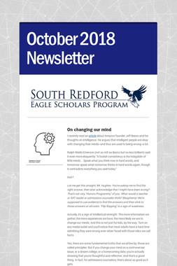 October 2018 Newsletter