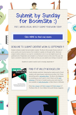 Submit by Sunday for BoomSite :)
