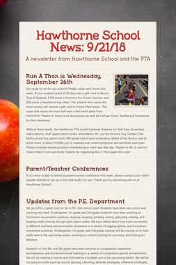 Hawthorne School News: 9/21/18