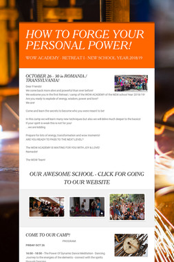 HOW TO FORGE YOUR PERSONAL POWER!