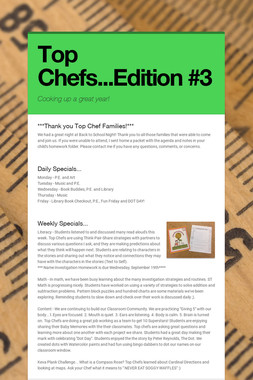 Top Chefs...Edition #3