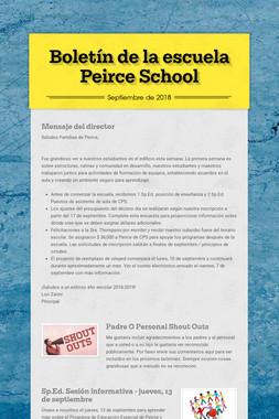 Boletín de la escuela Peirce School