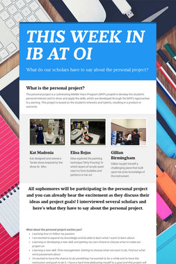 THIS WEEK IN IB AT OI