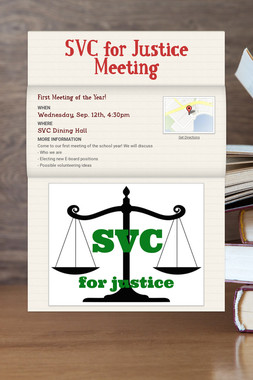 SVC for Justice Meeting