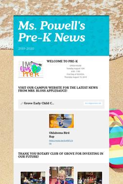 Ms. Powell's     Pre-K News