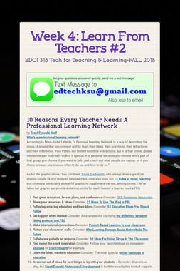 Week 4: Learn From Teachers #2