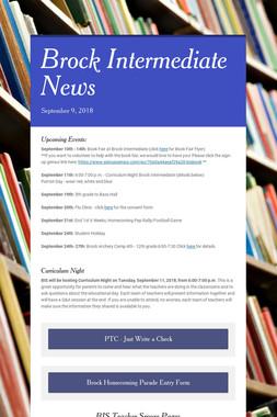 Brock Intermediate News