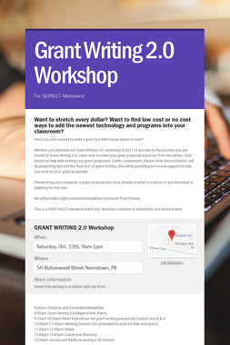 Grant Writing 2.0 Workshop