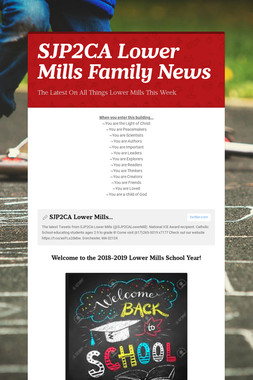 SJP2CA Lower Mills Family News