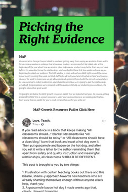 Picking the Right Evidence