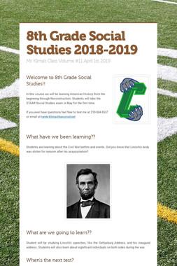 8th Grade Social Studies 2018-2019