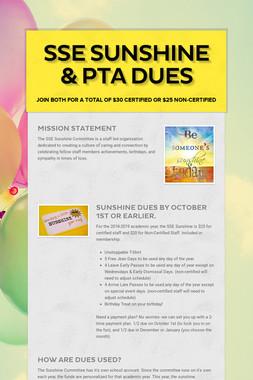 SSE Sunshine & PTA Dues