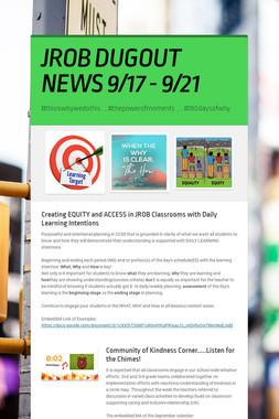 JROB DUGOUT NEWS 9/17 - 9/21