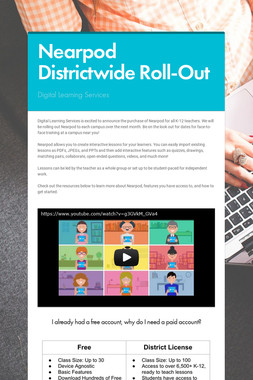 Nearpod Districtwide Roll-Out