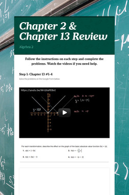 Chapter 2 & Chapter 13 Review