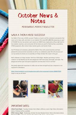 October News & Notes
