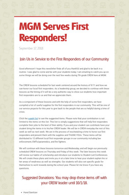MGM Serves First Responders!