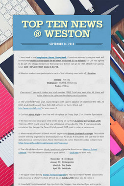 Top TEN News @ Weston