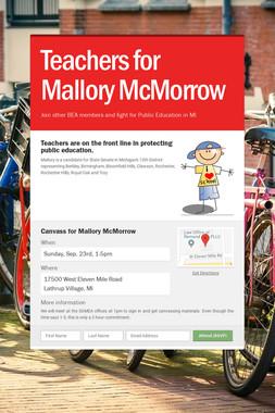 Teachers for Mallory McMorrow