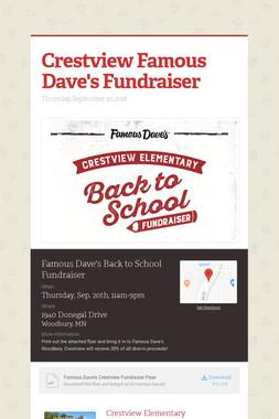 Crestview Famous Dave's Fundraiser