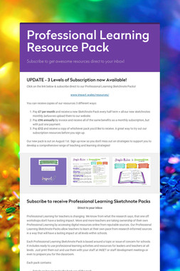Professional Learning Resource Pack