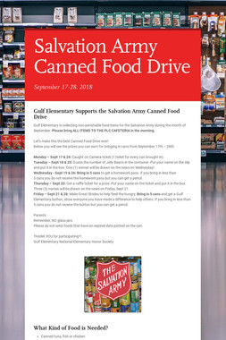 Salvation Army Canned Food Drive
