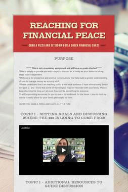 REACHING FOR FINANCIAL PEACE