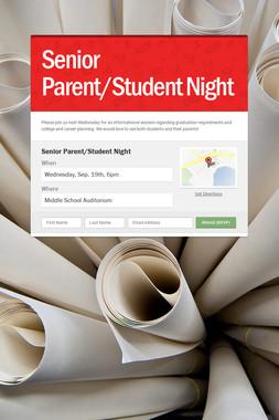 Senior Parent/Student Night
