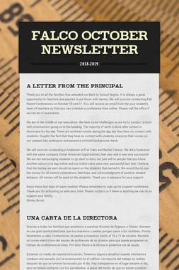 Falco October Newsletter