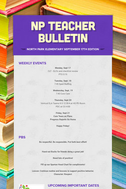 NP Teacher Bulletin