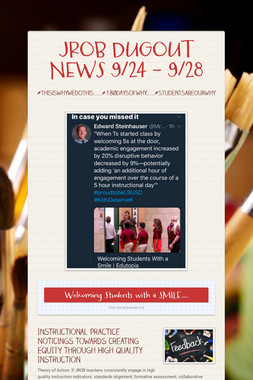 JROB DUGOUT NEWS 9/24 - 9/28
