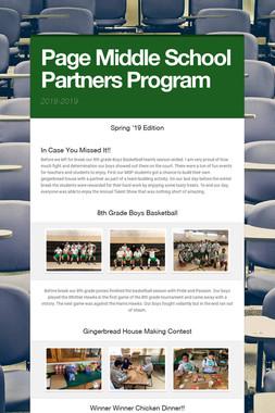 Page Middle School Partners Program