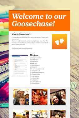 Welcome to our Goosechase!