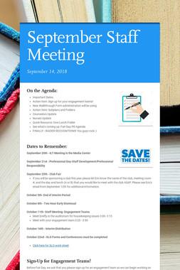 September Staff Meeting