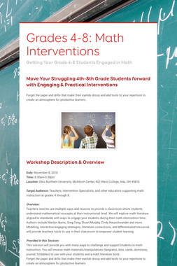 Grades 4-8: Math Interventions