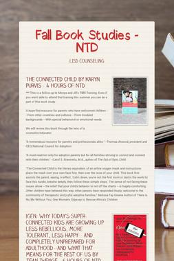 Fall Book Studies - NTD