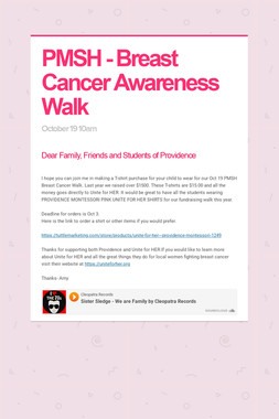PMSH - Breast Cancer Awareness Walk