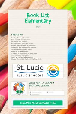 Book List Elementary