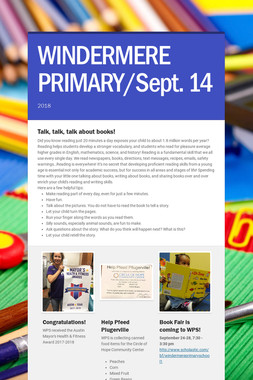 WINDERMERE PRIMARY/Sept. 14