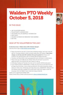Walden PTO Weekly October 5, 2018